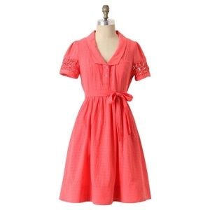 Anthropologie Maeve Tiny Windows Textured Dress